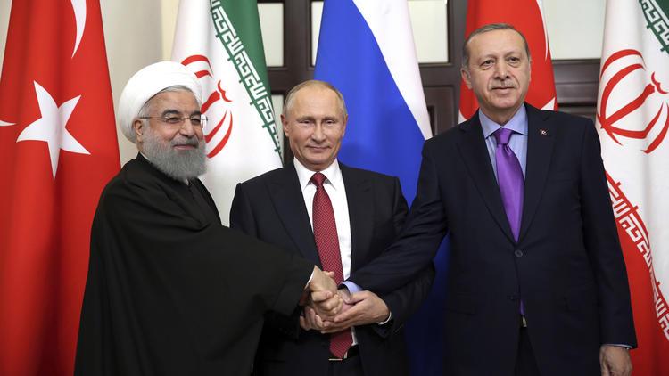 Ռուսաստանի, Թուրքիայի ու Իրանի նախագահների հանդիպումից հետո համատեղ հայտարարություն է հրապարակվել