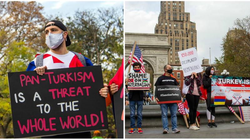 Ամերիկահայերը խաղաղ ցույցի են դուրս եկել Նյու Յորքում՝ բողոքելով մշակութային ցեղասպանության դեմ (լուսանկարներ)