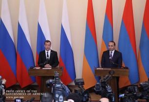 ՀՀ և ՌԴ վարչապետները հանդես են եկել բանակցությունների արդյունքներն ամփոփող հայտարարություններով