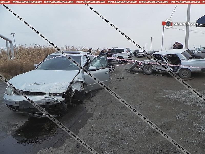 Ողբերգական ավտովթար Արմավիրի մարզում. բախվել են Volkswagen-ն ու ВАЗ 2107-ը, կա 1 զոհ, 2 վիրավոր.