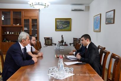 Արցախի պետնախարար Մարտիրոսյանի հետ քննարկվել են «Գանձասար» գիտամշակութային կենտրոնի հետ համագործակցության հարցեր