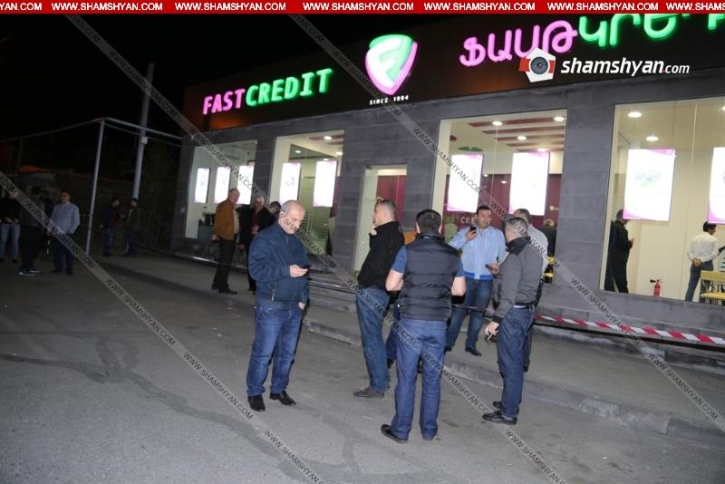 Երևանում դիմակավորված հանցագործը «Ֆասթ Կրեդիտ» բանկից թալանել է 6 մլն 300 հազար  դրամ գումար