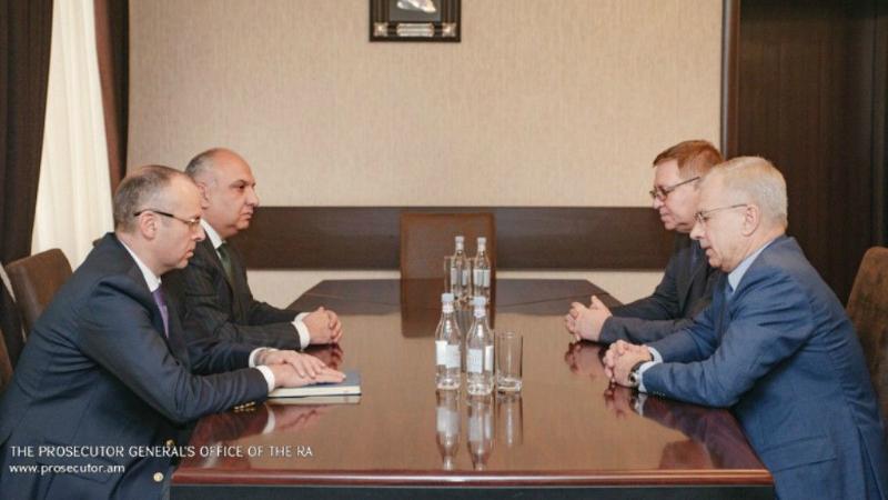 Զինդատախազը հանդիպում է ունեցել ՌԴ հարավային ռազմական օկրուգի զինվորական դատախազի և քննչական վարչության ղեկավարի հետ