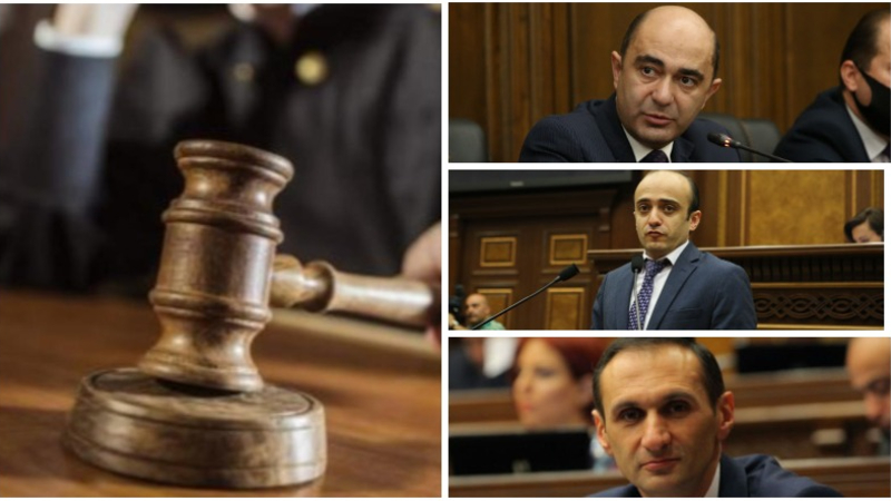 Դատարանը բավարարել է Էդմոն Մարուքյանի, Արմեն Եղիազարյանի և Տարոն Սիմոնյանի հայցը