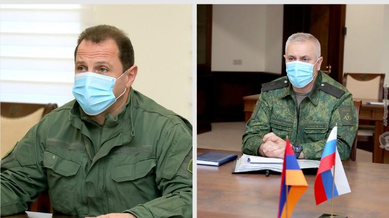 Դավիթ Տոնոյանն ու ՌԴ խաղաղապահ զորակազմի հրամանատարը քննարկել են խաղաղապահ առաքելության կազմակերպման և իրականացման հարցեր