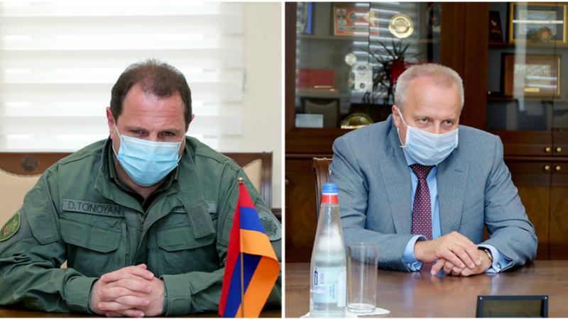 Դավիթ Տոնոյանը հանդիպել է ՀՀ-ում ՌԴ դեսպանի հետ. կողմերը քննարկել են երկկողմ ռազմական և ռազմատեխնիկական համագործակցության ընթացիկ խնդիրները