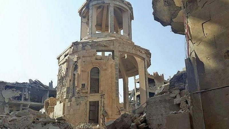 Հստակ տեղեկություններ կան, որ Դեր Զորի եկեղեցական համալիրը պայթեցվել է․ Կիլիկիո կաթողիկոսարան