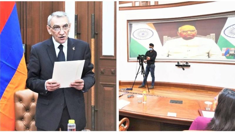 Դեսպան Յուրի Բաբախանյանն իր հավատարմագրերն է հանձնել Հնդկաստանի նախագահին