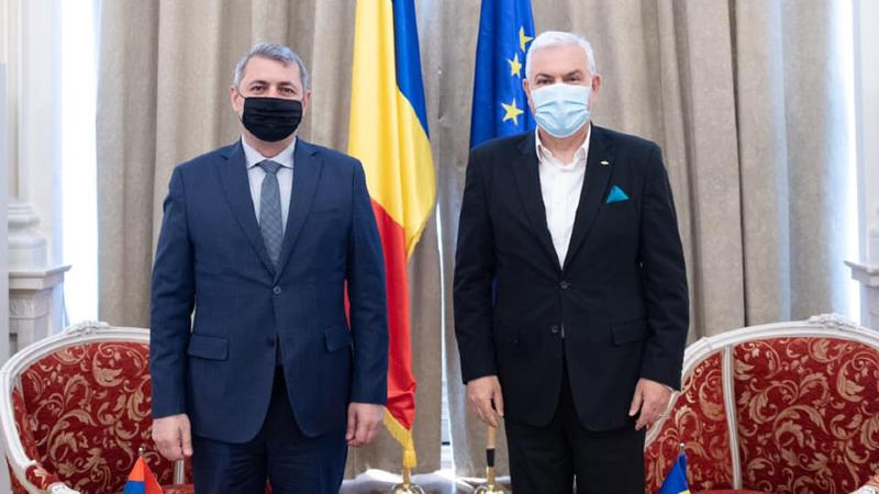Դեսպան Մինասյանը Ռումինիայի Սենատի Եվրոպական հարցերով հանձնաժողովի նախագահն ներկայացրել է ՀՀ ինքնիշխան տարածքի նկատմամբ ադրբեջանական կողմի ոտնձգությունները