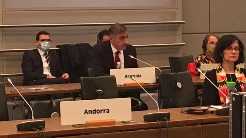 Ադրբեջանի վերջին ագրեսիան ասում է, որ Արցախը երբևէ ու որևէ կարգավիճակով չի կարող Ադրբեջանի մաս լինել. դեսպան Պապիկյանի ելույթը ԵԱՀԿ խորհրդի նիստում