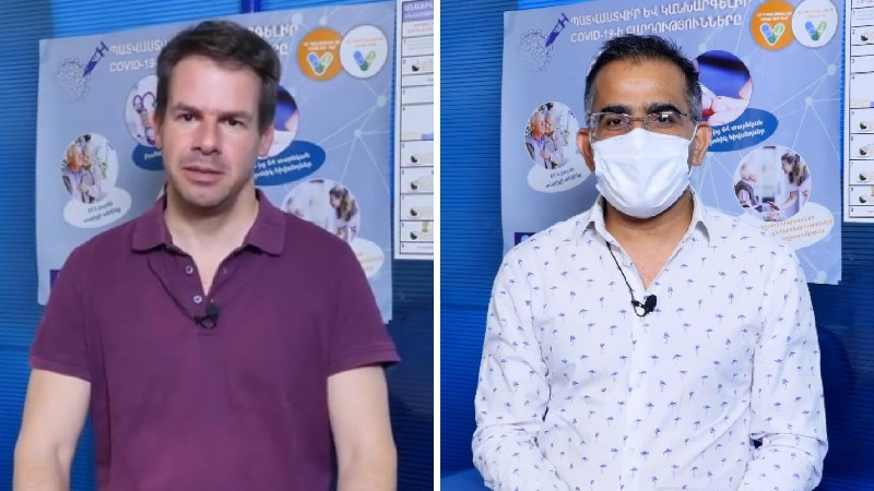 ՀՀ-ում Ֆրանսիայի և Հնդկաստանի դեսպանները պատվաստվել են կորոնավիրուսի դեմ (տեսանյութ)