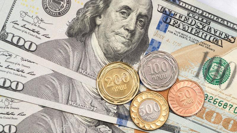 ԱՄՆ դոլարի փոխարժեքը նվազել է 1.69 դրամով. Կենտրոնական բանկը սահմանել է նոր փոխարժեքներ