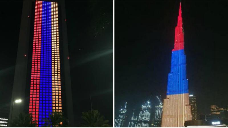 Աբու Դաբիի ազգային նավթային ընկերության երկնաքերը և Դուբայի Բուրջ Խալիֆան կլուսավորվեն Հայաստանի ազգային դրոշի գույներով