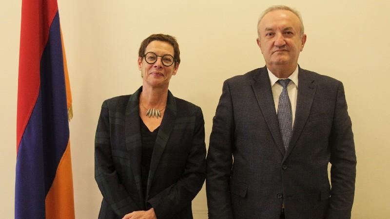 Վահրամ Դումանյանն ընդունել է ՀՀ-ում Ֆրանսիայի նորանշանակ արտակարգ և լիազոր դեսպանին
