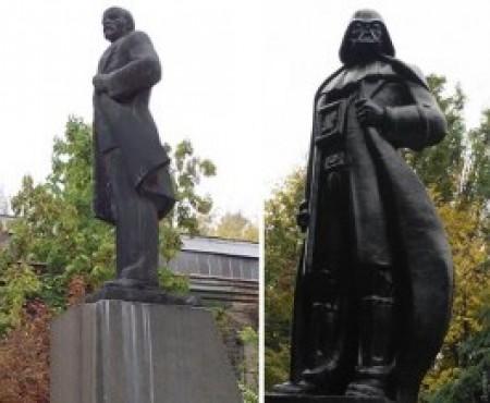Օդեսայում Լենինի արձանի վրա սարքել են «Աստղային պատերազմներ»-ի հերոսի արձանը