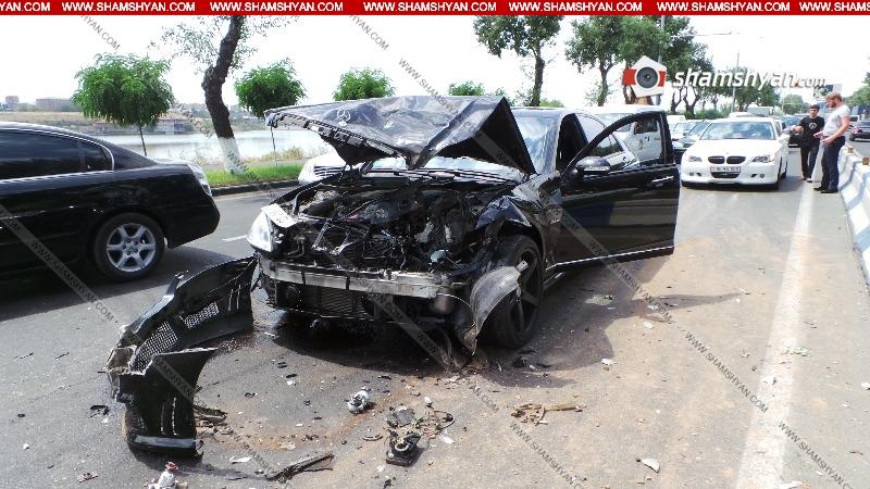 Շղթայական վթար Իսակովի պողոտայում՝ բախվել է 7 ավտոմեքենա