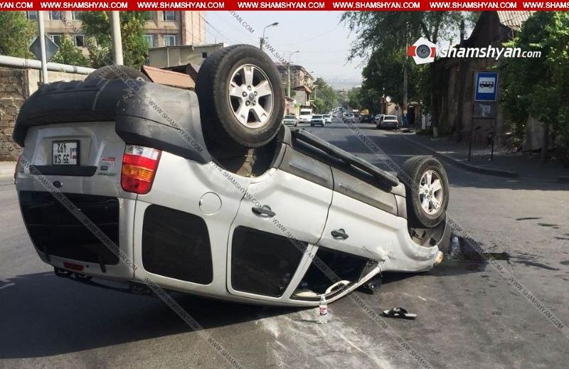 Երևանում 44-ամյա վարորդը Ford-ով բախվել է կայանված Opel-ին և գլխիվայր շրջվել. կա վիրավոր