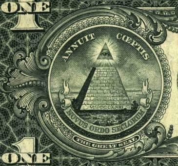 Ինչու՞ է 1 դոլարանոցի վերևի հատվածում փայլող աչք պատկերված