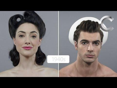 Կանանց և տղամարդկանց գեղեցկության էվոլուցիան՝ անցնող 100 տարիների ընթացքում (տեսանյութ)