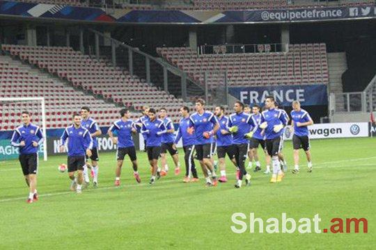 Հայաստանի հավաքականի մեկնարկային կազմը Ֆրանսիայի դեմ խաղում