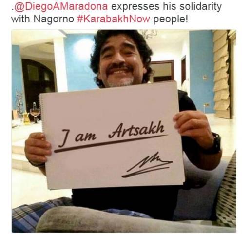«Ես եմ Արցախը». Դիեգո Մարադոնա