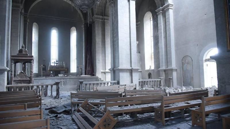 Ադրբեջանը հարված է հասցրել Շուշիի Ղազանչեցոց եկեղեցուն․ (լուսանկարներ)