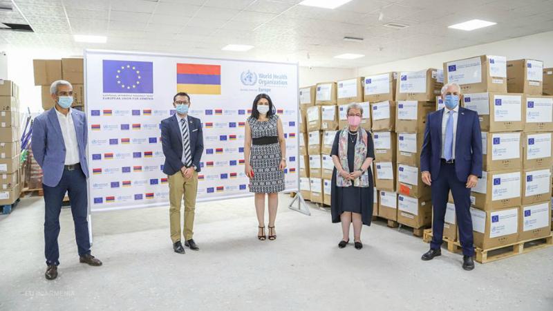 ԵՄ-ի և ԱՀԿ-ի ջանքերով Հայաստան է առաքվել 28.000 պաշտպանիչ բժշկական հանդերձանք և 20.000 N95 շնչառական դիմակ