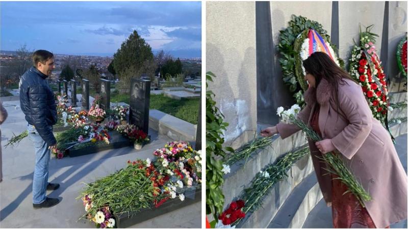 «Բարգավաճ Հայաստան» խմբակցության ներկայացուցիչներն այցելել են «Եռաբլուր» զինվորական պանթեոն