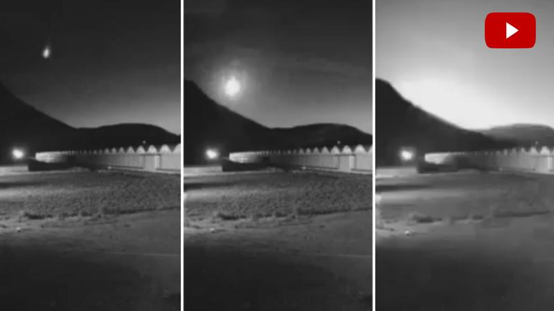 Խոշոր երկնաքարի անկումը Հրազդան-Հանքավան հատվածում (տեսանյութ)