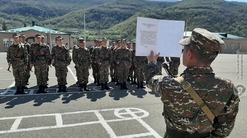 Անցկացվել է զինվորական երդման հանդիսավոր արարողություն․ՊՆ