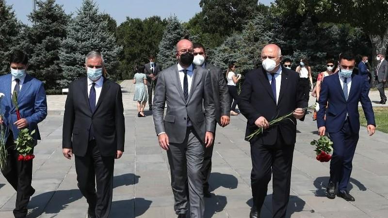 Եվրոպական խորհրդի նախագահը այցելել է Ծիծեռնակաբերդի հուշահամալիր