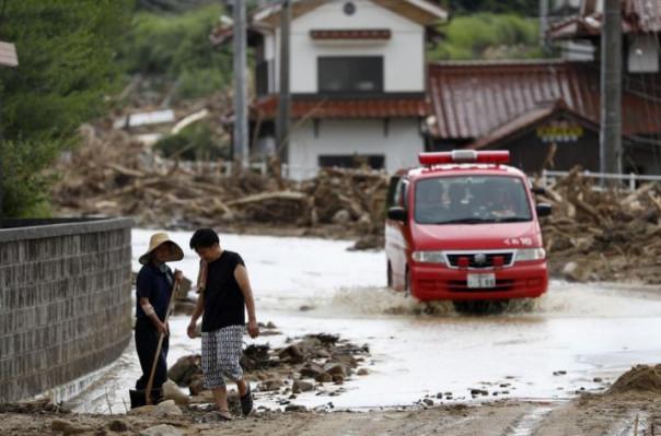 Ճապոնիայում հորդառատ անձրևների հետևանքով զոհերի թիվը հասել է 120-ի