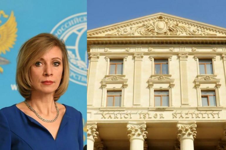 Ադրբեջանի ԱԳՆ-ն արձագանքել է Զախարովայի հայտարարությանը