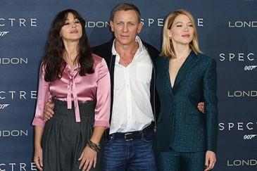 Մոնիկա Բելուչին, Լեա Սեյդուն և Դենիել Քրեյգը «007.Սպեկտոր» ֆիլմի ֆոտոքոլում