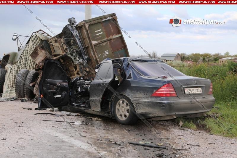 Կոտայքում  Mercedes-ը մխրճվել է ЗИЛ-ի մեջ. Mercedes-ի վարորդը տեղում մահացել է
