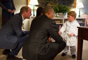 Բարաք Օբաման շփվել է 2-ամյա գահաժառանգ արքայազն Ջորջի հետ