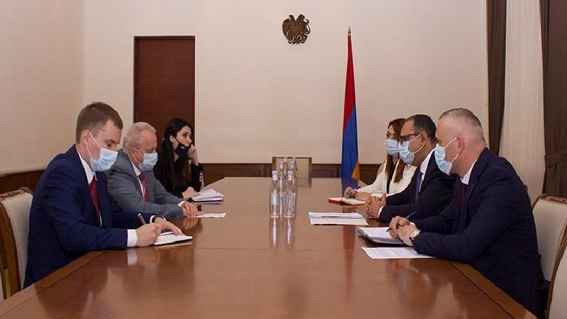 Տիգրան Խաչատրյանը եւ Սերգեյ Կոպիրկինը քննարկել են հայ-ռուսական տնտեսական համագործակցությանն առնչվող հարցեր