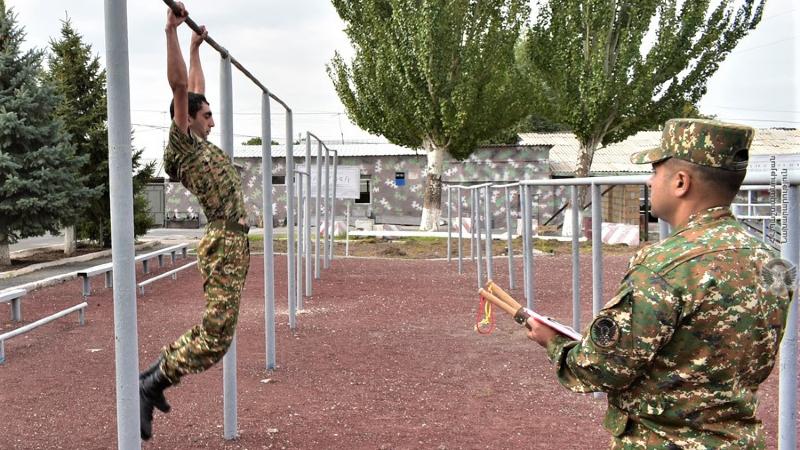 N զորամիավորման զորամասերից մեկում անցկացվել են ֆիզիկական պատրաստության պարապմունքներ