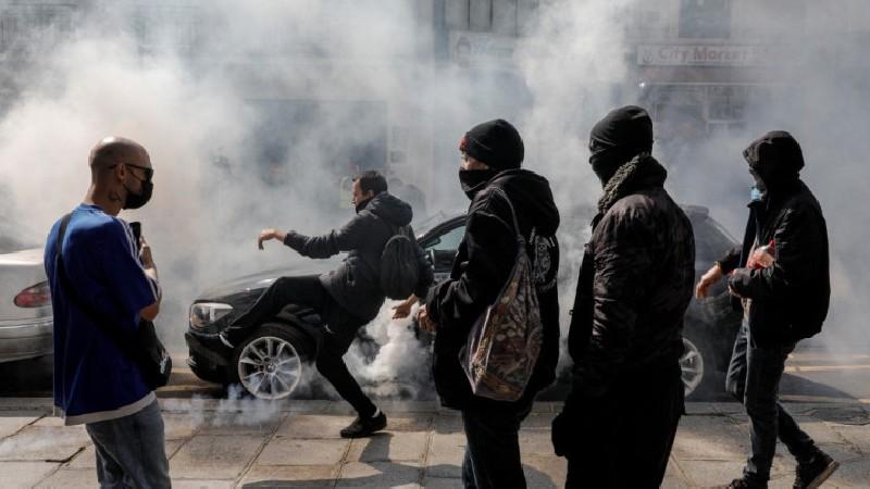 Փարիզում ոստիկանությունը արցունքաբեր գազ է կիրառել ցուցարարների դեմ