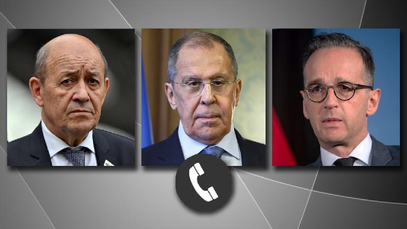 Ռուսաստանի, Ֆրանսիայի ու Գերմանիայի ԱԳ նախարարները քննարկել են ԼՂ թեման և հայ-ադրբեջանական սահմանին տիրող իրավիճակը