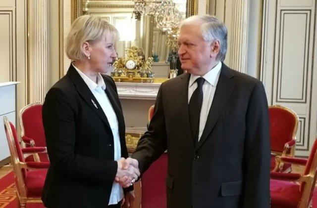 Հայաստանի և Շվեդիայի ԱԳ նախարարները քննարկել են ցեղասպանությունների կանխարգելման քայլերը