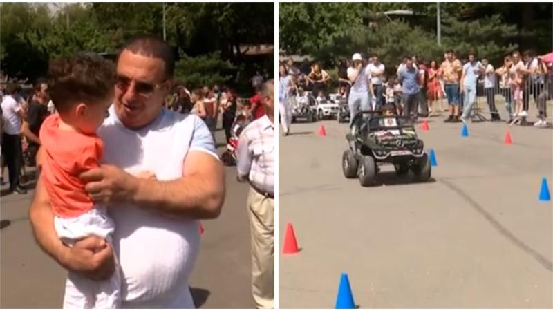 Գագիկ Ծառուկյանի աջակցությամբ Ազատության հրապարակում անցկացվել է «Փոքրիկ վարորդ» մրցույթը (տեսանյութ)