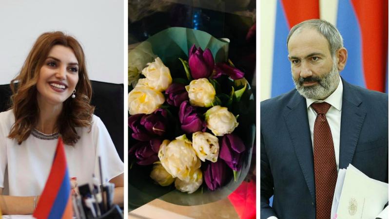 Օրվա բազում ծաղկեփնջերից ամենաանմոռանալին կարող է լինել այն, որը ստացել ես անձամբ ՀՀ վարչապետից․ Դիանա Գասպարյան