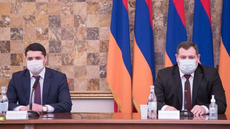 Քննչական կոմիտեի նախագահն անձնակազմին է ներկայացրել նորանշանակ տեղակալ Արգիշտի Քյարամյանին