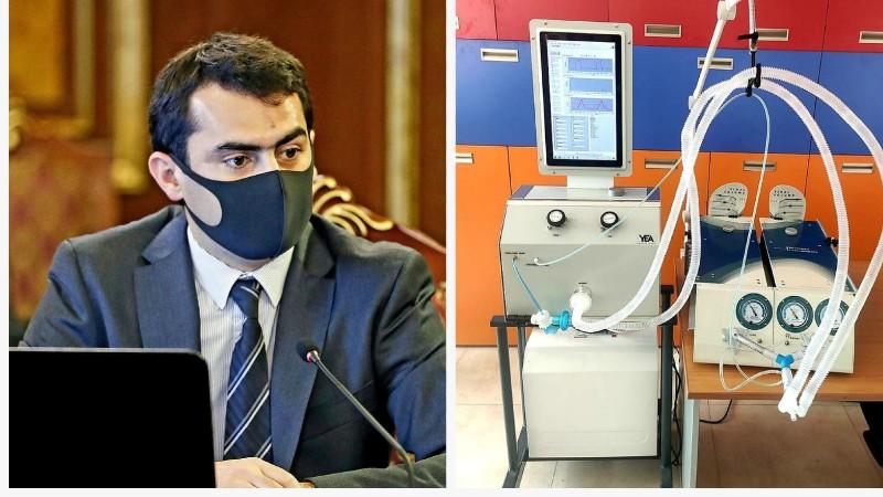 Հակոբ Արշակյանը ներկայացրել է Հայաստանում մշակված թոքերի արհեստական շնչառության սարքի նախնական տարբերակը