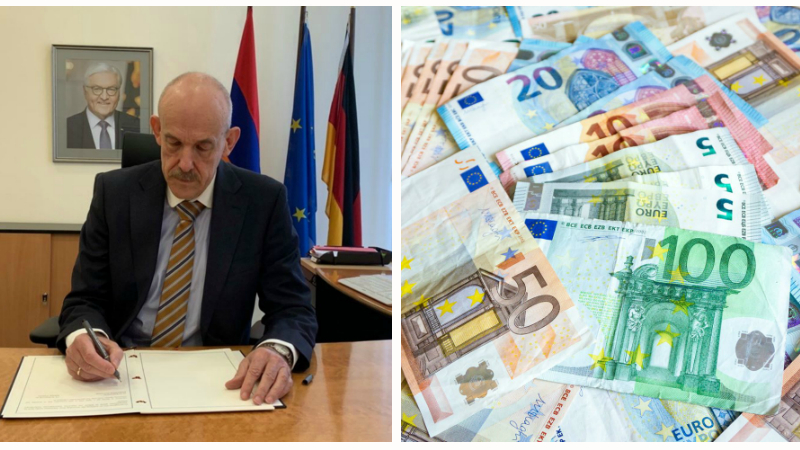 Գերմանիայի և Հայաստանի միջև ֆինանսական համագործակցության համաձայնագիրի շրջանակներում Հայաստանին կտրամադրվիր ավելի քան 91 միլիոն եվրո
