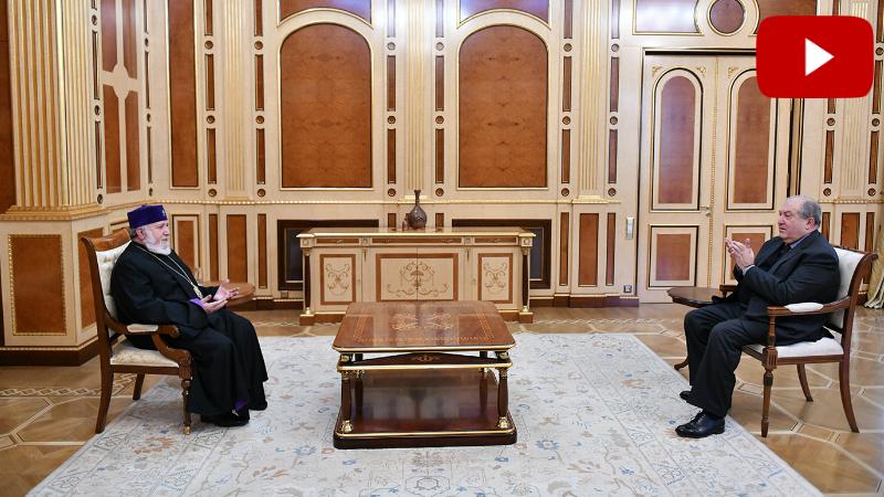 Արմեն Սարգսյանը հանդիպել է Ամենայն Հայոց Կաթողիկոսի հետ