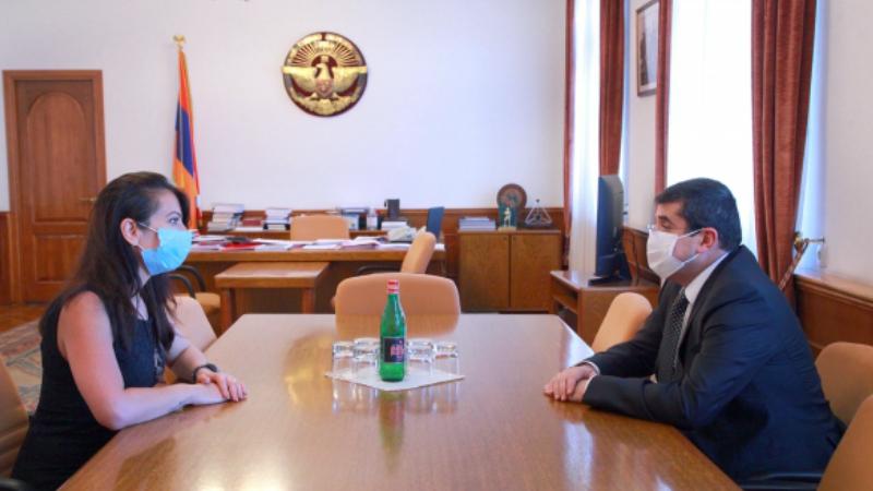 Արցախի նախագահն ընդունել է ՀՀ ԱԺ պատգամավոր Քրիստինե Պողոսյանին