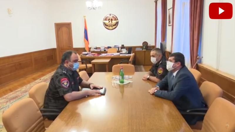 Արցախի նախագահ Արայիկ Հարությունյանն ընդունել է Հայաստանի ոստիկանության պետ Վահե Ղազարյանին (տեսանյութ)