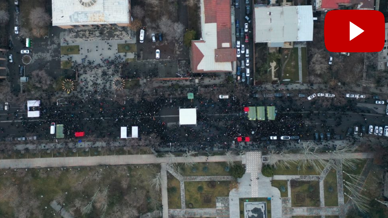 Ժամը 18։19-ի դրությամբ Բաղրամյան պողոտայի՝ ցուցարարների կողմից փակված տարածքում գտնվել է շուրջ 5000 մարդ․ ԻՔՄ